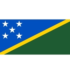 Flag of Solomon Islands correct size color vector image vector image