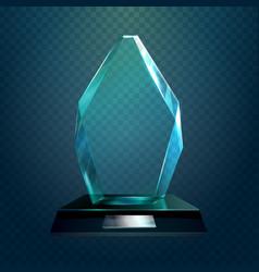 glassware trophy or cup sport award vector image vector image