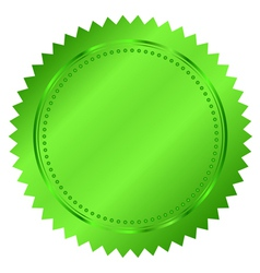 green seal vector image