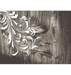 Grunge vintage floral background vector
