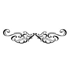 Hand drawn swirls vector