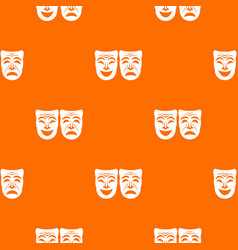 happy and sad mask pattern seamless vector image