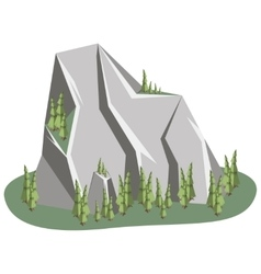 Isometric mountain landscape vector