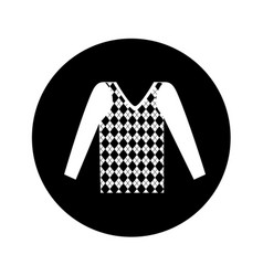 Masculine sweater clothes icon vector