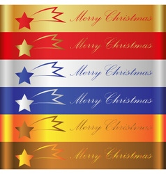 merry christmas color stripes with comet eps10 vector image vector image