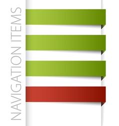 modern navigation items vector image vector image
