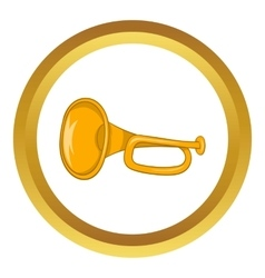 Music tube icon vector image vector image