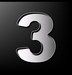 Number 3 sign design template element vector
