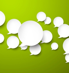 Paper white speech bubbles vector image vector image