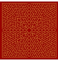 Red Labyrinth Kids Maze vector image vector image