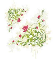 rose vine graphic vector image vector image
