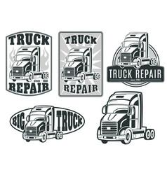 Set of logos truck repair vector