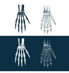 set of skeleton hands vector image