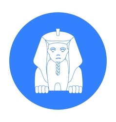 Sphinx icon in black style isolated on white vector image vector image