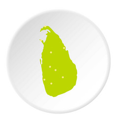 sri lanka green map icon circle vector image