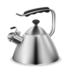 Steel whistling kettle vector image vector image