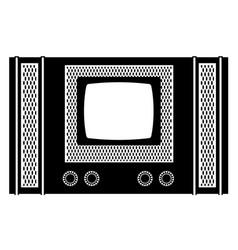 tv old retro vintage icon stock vector image vector image