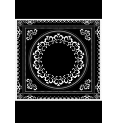 Decorative pattern frame for napkin vector
