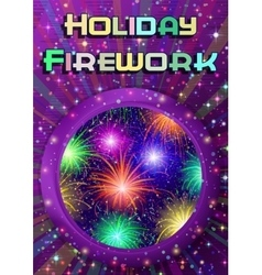 Window with Firework vector image