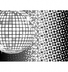 Mirror ball disco vector