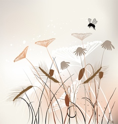 The meadow in summer time vector image