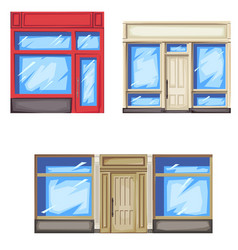Facade of store and shop vector