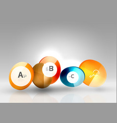 glass circle infographics vector image