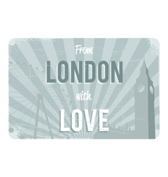 London postcard design vector