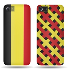 Rear covers smartphone with flags of belgium vector