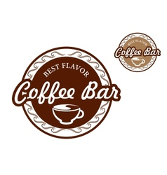 Coffee bar signs vector image