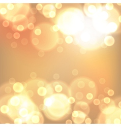 Gold christmas lights background vector