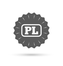 Polish language sign icon pl translation vector