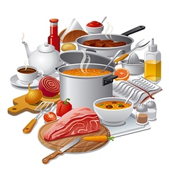 Cooking meal vector