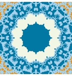 Blue Round Frame Seamless abstract background with vector image