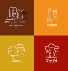 Brewery logo collection vector