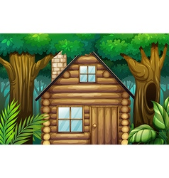Little hut in the woods vector image
