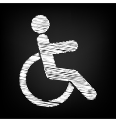 Disabled sign scribble effect vector