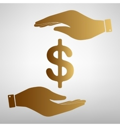 Dollars sign icon vector