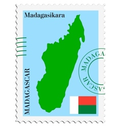 Mail to-from madagascar vector