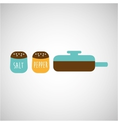 Kitchen tools food cookware vector