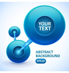 Abstract background with blue balls vector image vector image