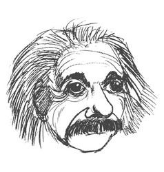 albert einstein famous scientist vector image