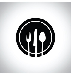 black round plate vector image