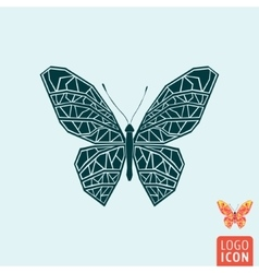 Butterfly icon isolated vector image vector image
