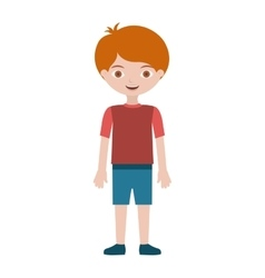 child with t-shirt and shorts vector image