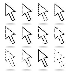computer arrow vector image vector image