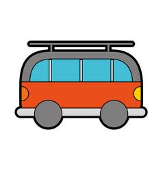 Cute orange car cartoon vector