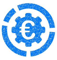 Euro diagram configuration grunge icon vector