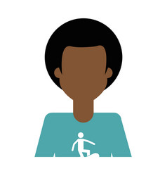 faceless man icon image vector image vector image