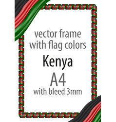 flag v14 kenya vector image vector image